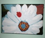 Daisy with Ladybug, Acrylic on Canvas, 2009