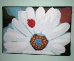 Daisy with Ladybug, Acrylic on Canvas, 2009