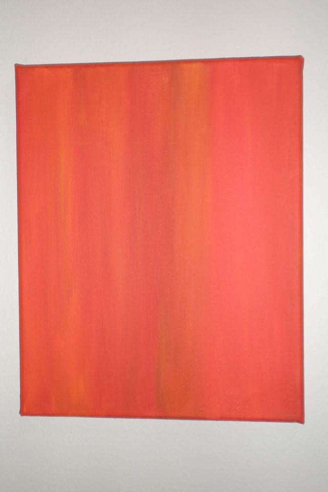 Exploration of Orange 1, Acrylics on Canvas, 2011