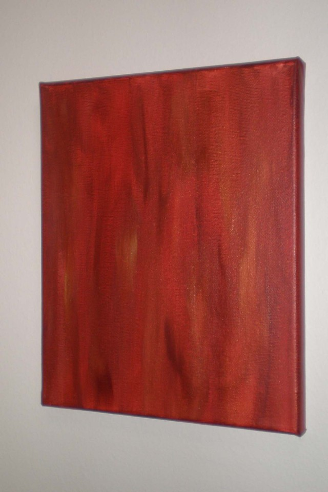 Exploration of Red 1, Acrylic on Canvas, 2011