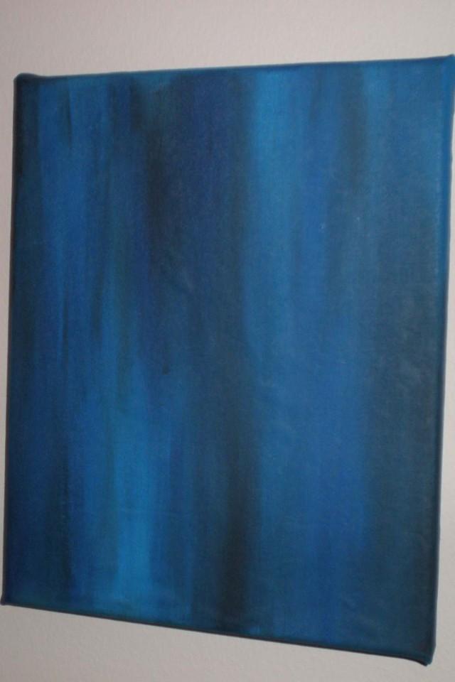 Exploration of Blue 2, Acrylic on Canvas, 2011