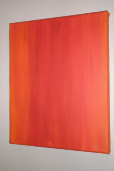 Exploration of Orange 2, Acrylics on Canvas, 2011