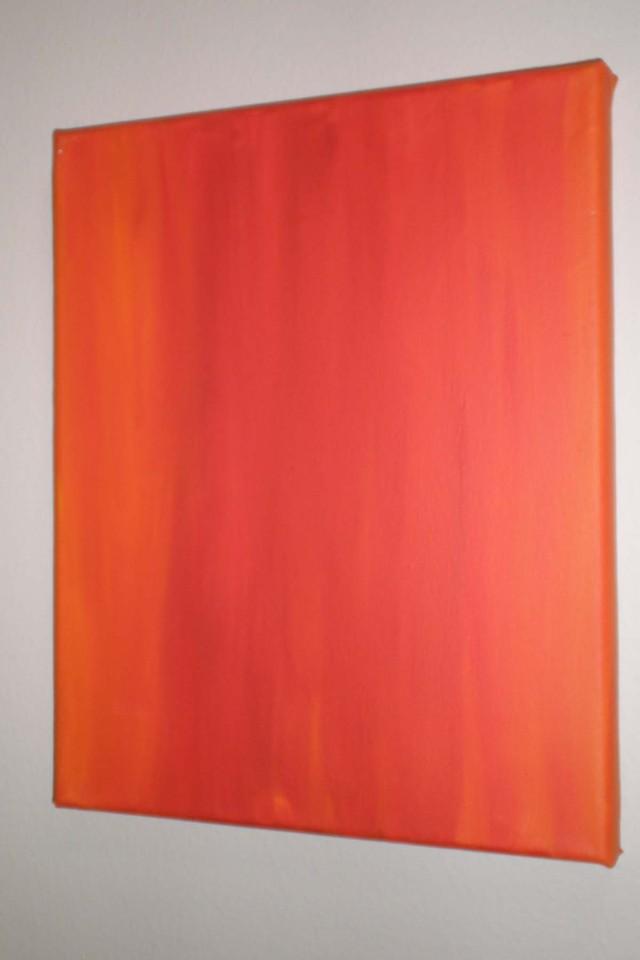 Exploration of Orange 2, Acrylics on Canvas, 2011