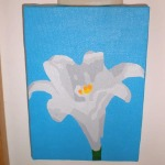 Easter Lily, Acrylic on Canvas, 2008