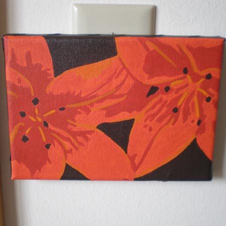 Orange Lilies, Acrylic on Canvas, 2008.