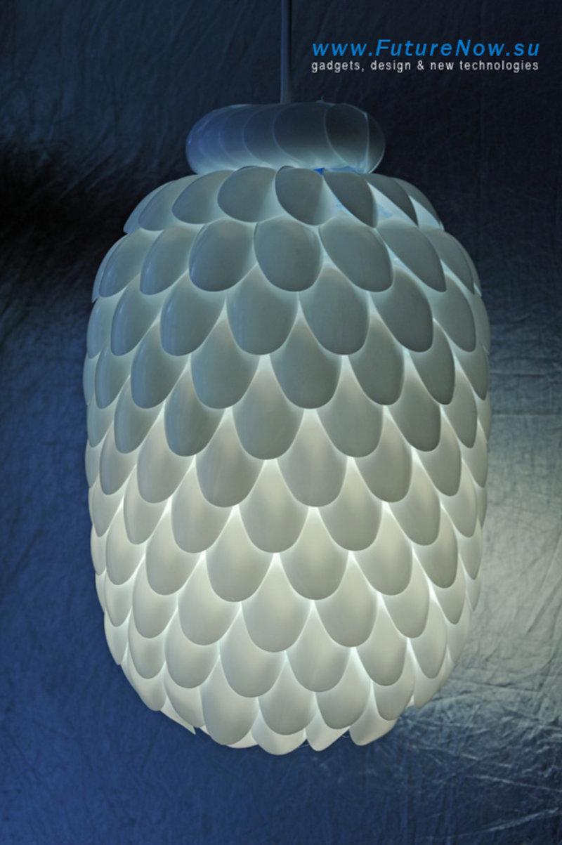 DIY Spoon Lamp   Christina Designs Art