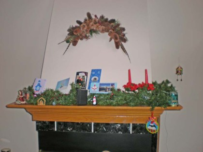 Our Fireplace Mantle