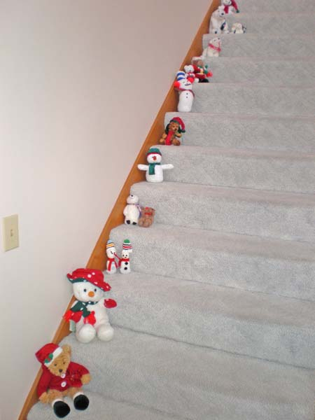 Snowmen on the Stairs