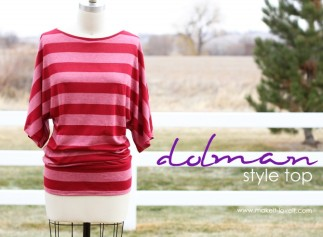 Dolman Top DIY by Make It Love It