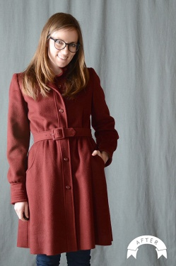 Wool Coat Refashion by Melissa Esplin