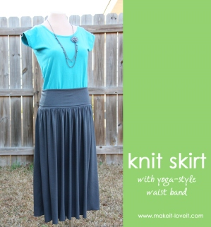 Knit Skirt with Yoga Waistband