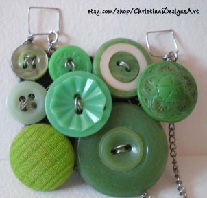 Vintage & Modern Button Pendant by ChristinaDesignsArt $20