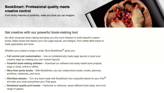Blurb Booksmart application - photobook - photo book - create a book