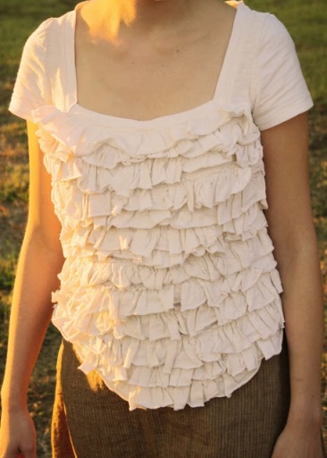 Ruffle tshirt diy tutorial refashion
