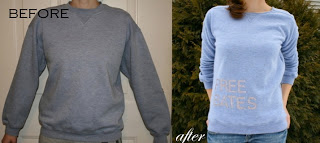 Glitter sweatshirt refashion