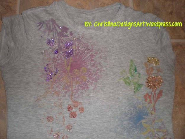 diy glitter embellished shirt by christina designs art