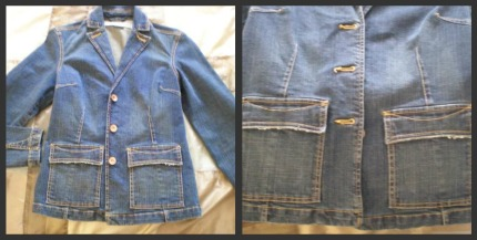 Jean Jacket Refashion Before