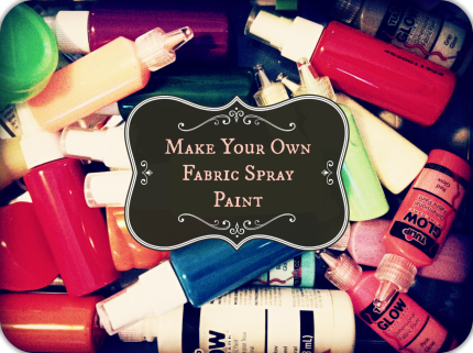 Make Your Own Fabric Spray Paint by Coxal Collaborative