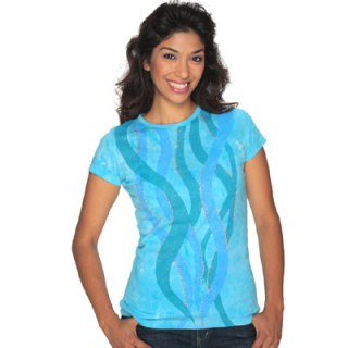 ILovetoCreate.com Water Wave T with Tulip Fabric Paints