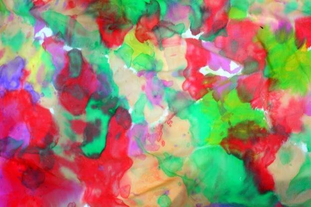 thegirlcreative - watercolor fabric painting