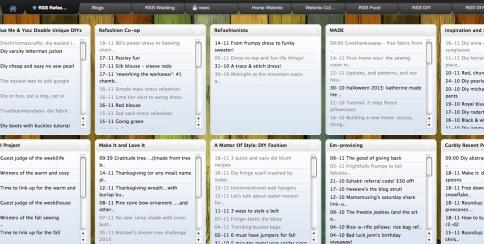 RSS tab