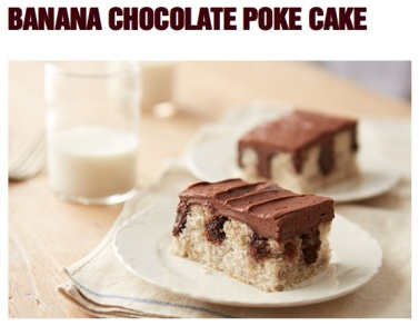 Banana Chocolate Poke Cake