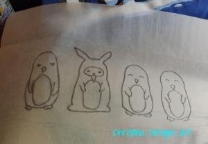 DIY Penguin Purse Design with Watercolor Pencils